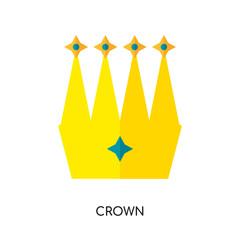 crown logo hd isolated on white background for your web, mobile and app design