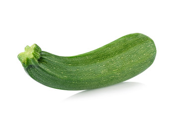 zucchini isolated on white background