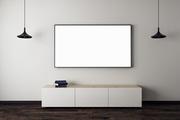 Wall Mural - New living room with empty TV