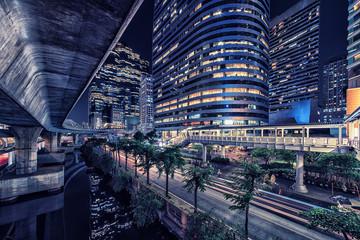 Fototapete - Sathorn district in Bangkok, Thailand