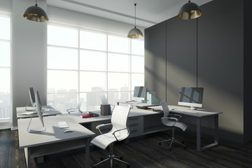 Contemporary office with copy space