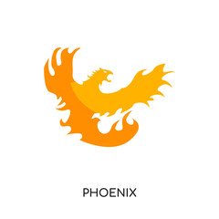 phoenix logo image isolated on white background for your web, mobile and app design