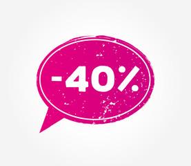 40 discount sale pink