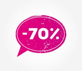 70 discount sale pink