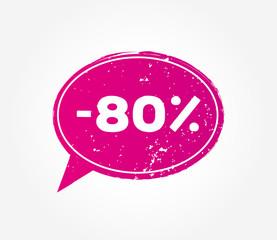 80 discount sale pink