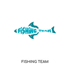 fishing team logo isolated on white background for your web, mobile and app design