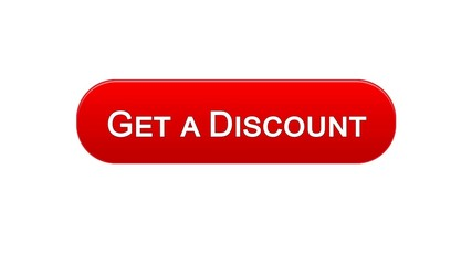 Get a discount web interface button red color, online shopping application