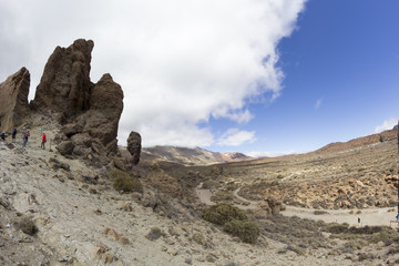 Volcano Teide and lava scenery in Teide National Park, Canary Islands, Spain