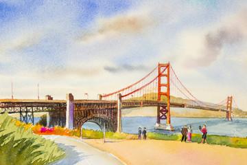 Golden gate bridge - sightseeing in San Francisco, USA