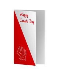 Grußkarte in rot-weiß mit zum Nationalfeiertag. 3d Render