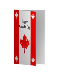 Grußkarte in rot-weiß zum Nationalfeiertag. 3d Render