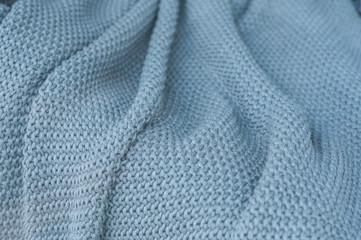 closeup of grey woolen fabric texture