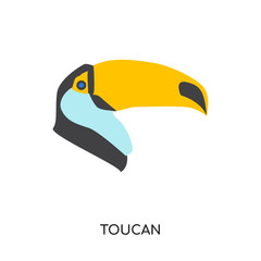 toucan logo isolated on white background for your web, mobile and app design