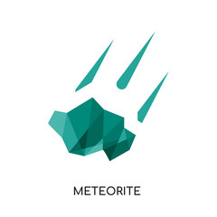 meteorite logo isolated on white background for your web, mobile and app design