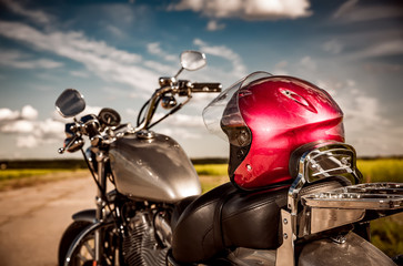 Wall Mural - Motorcycle on the road
