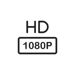 hd tv, hd quality outlined vector icon. Modern simple isolated sign. Pixel perfect vector  illustration for logo, website, mobile app and other designs