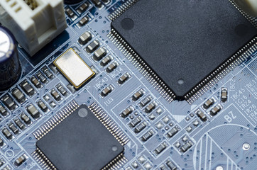 Printed circuit Board parts and chips