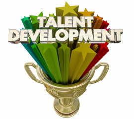 Talent Development Trophy Award Training Workforce 3d Illustration