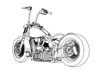 sketch of a motorcycle vector