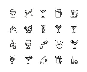 Alcohol icon set