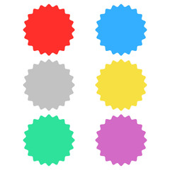 blank label, blank tag colorful set isolated vector