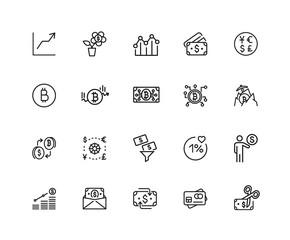 Digital currency icon set