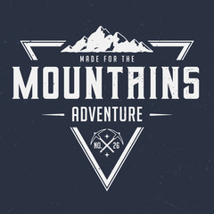 Made For The Mountains - Tee Design For Print