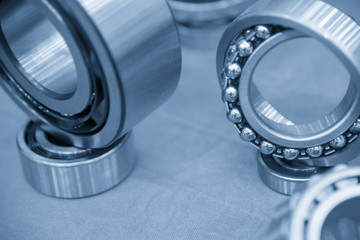 Close-up of the metal ball  bearing,explore the rolling bearing