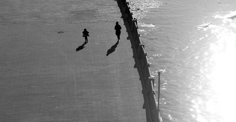 Photo of retro running people