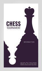 Vector illustration about chess tournament, match, game. Use as advertising, invitation, banner, poster