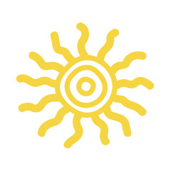 Sun icon vector illustration