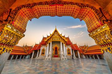 Wat Benchamabophit Dusit wanaram. Bangkok, Thailandia.