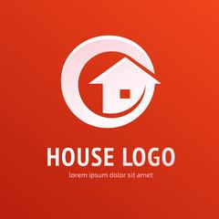 Logo design abstract house vector template