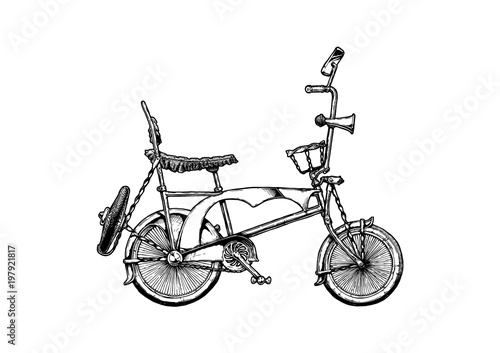 illustration of lowrider bicycle\