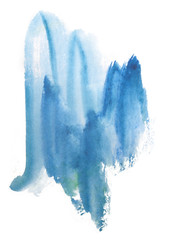 watercolor stain paint blue with texture for design