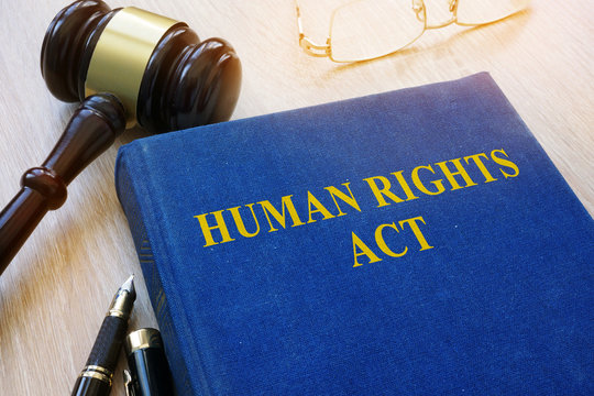 Human Rights Act and gavel on a table.