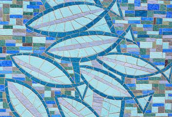 Fisch Symbole aus Kacheln - Fischsymbole als Dekoration