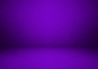 Wall Mural - Empty purple studio room, used as background for display your products, vector