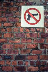Grungy No Guns Sign