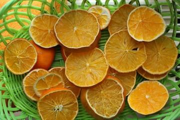 Sliced dried oranges