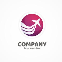 Logo design abstract planet travel vector template.