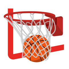 Basketball ring with ball vector illustration.