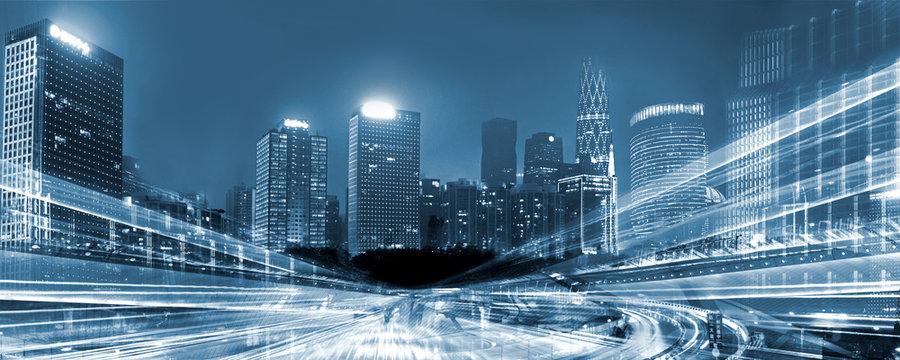 Night traffic in a Megacity
