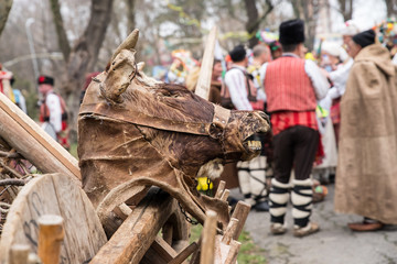 Kuker mask. The masked games of the pagan are a ritual blessing for health, fertility and prosperity.