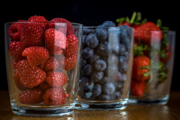 Fresh berry fruit. Healthy option. Vegetarian food.