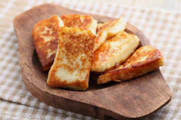 Roasted halloumi cheese