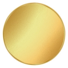 vector shiny round blank template for coins, medals, buttons, gold labels