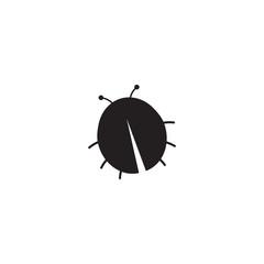 ladybug icon. sign design