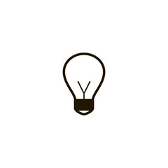 lightbulb icon. sign design
