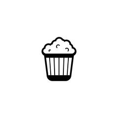 popcorn icon. sign design